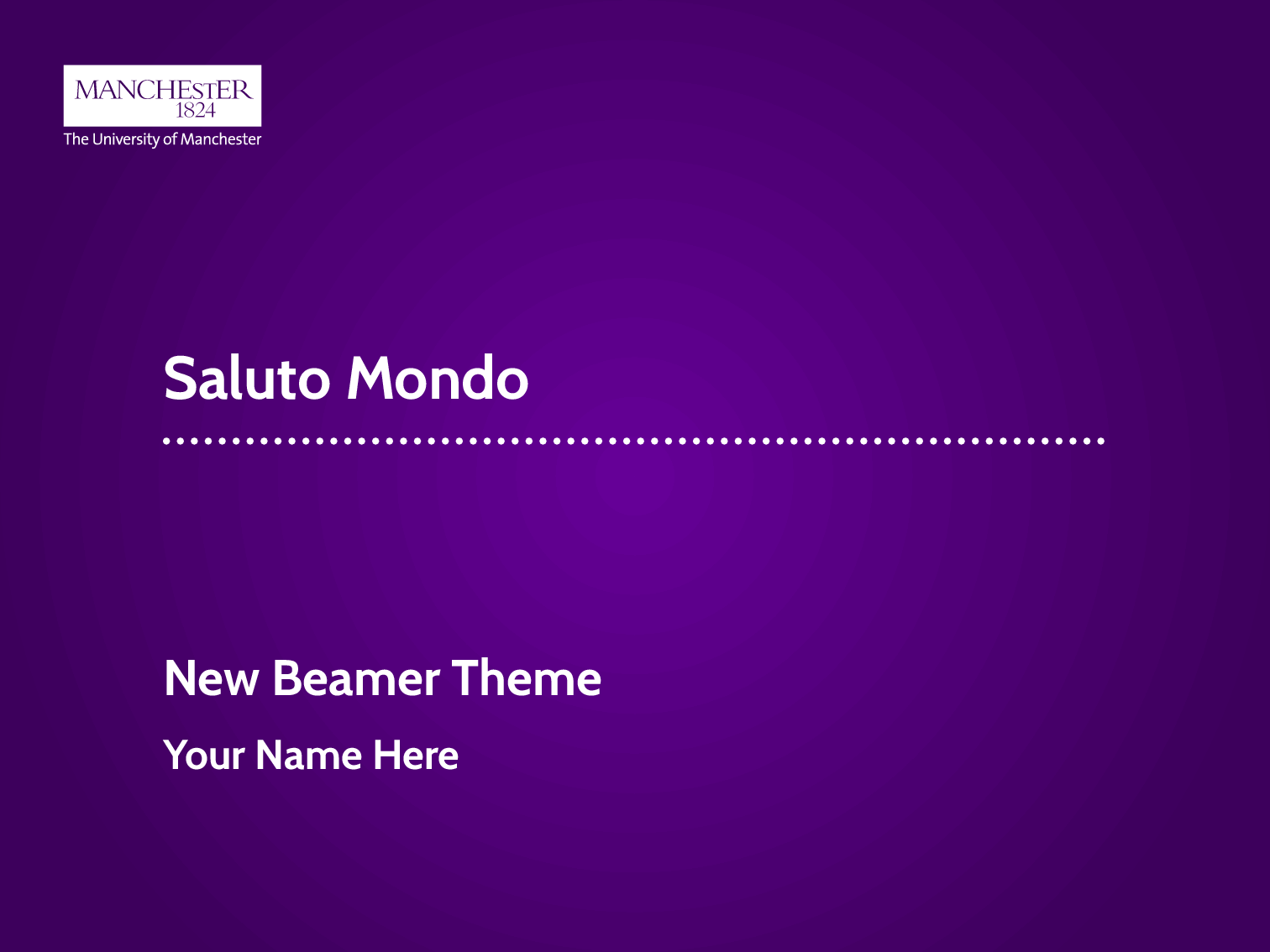Amundy new introduction to the unofficial university for University of manchester powerpoint template